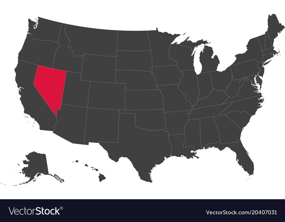Map of usa - nevada