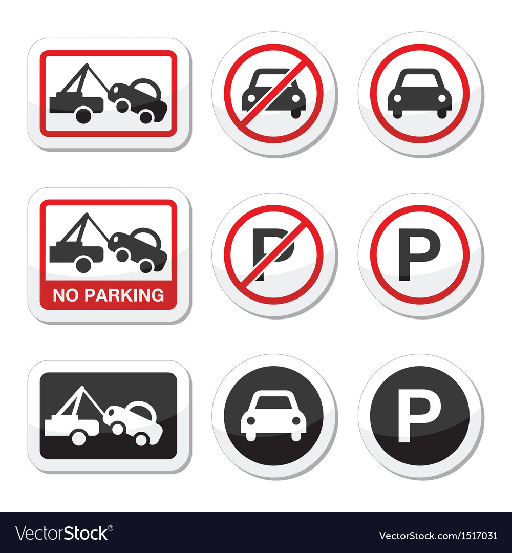 No parking parking forbidden red and black sign