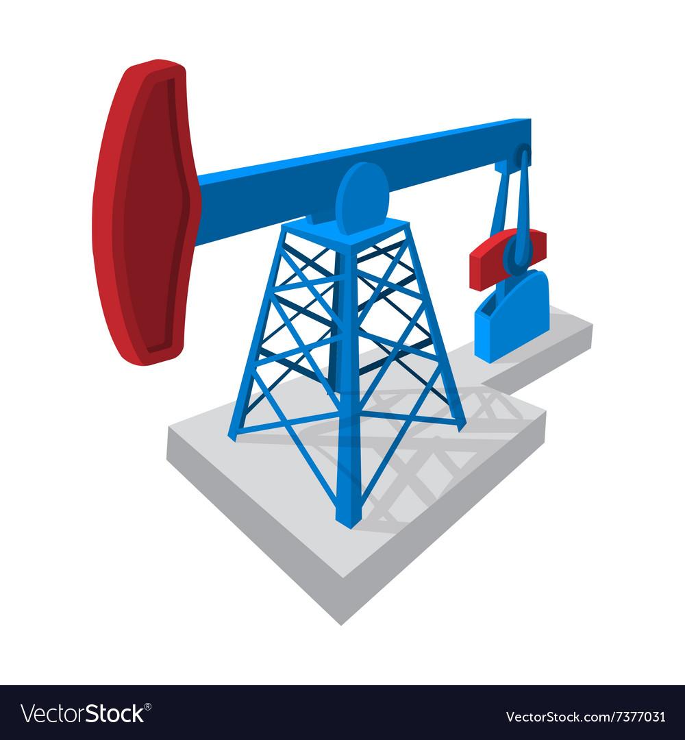 Oil pump cartoon icon vector image