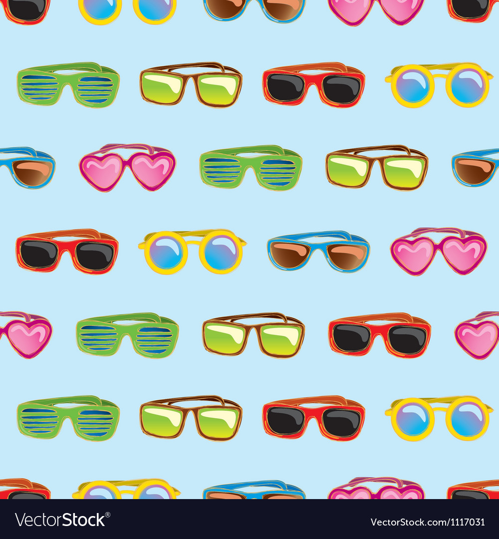 Retro sunglasses seamless pattern
