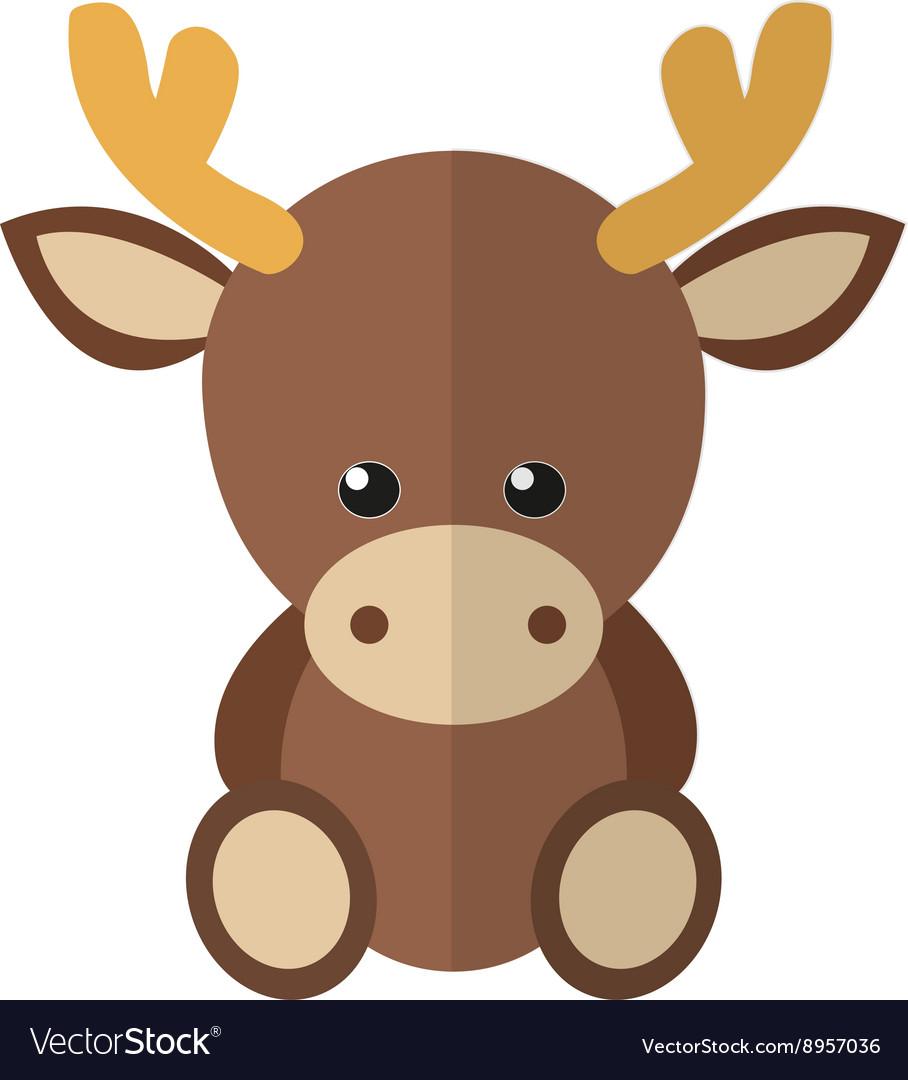 A moose vector image