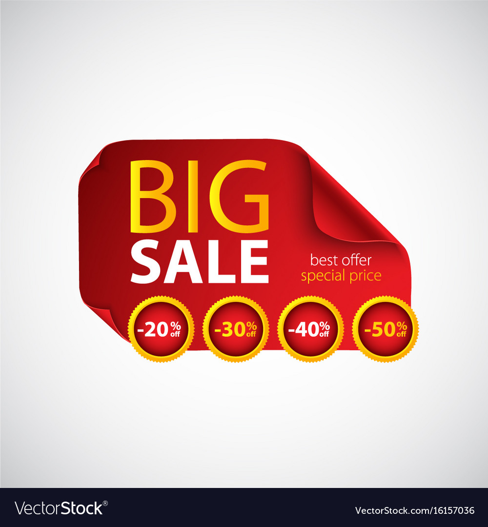 Big sale red paper with curved corners
