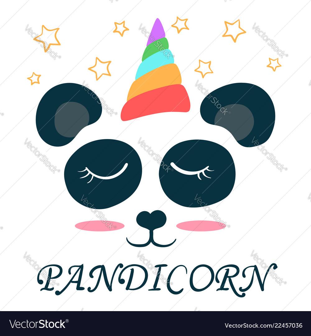 Cute unicorn panda pandicorn love