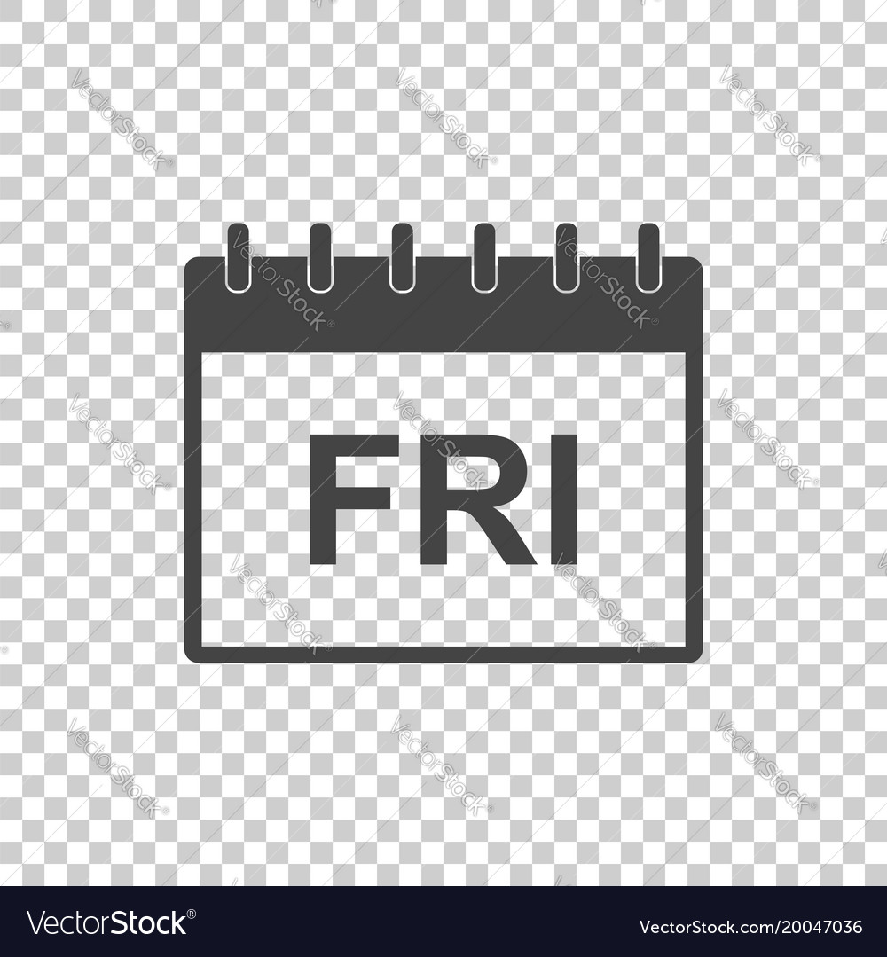 Friday calendar page pictogram icon simple flat