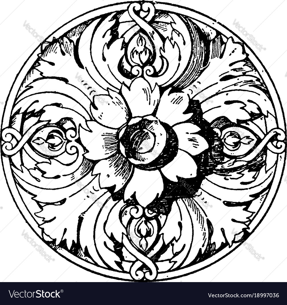 Modern french rosette is a ceiling flower made of