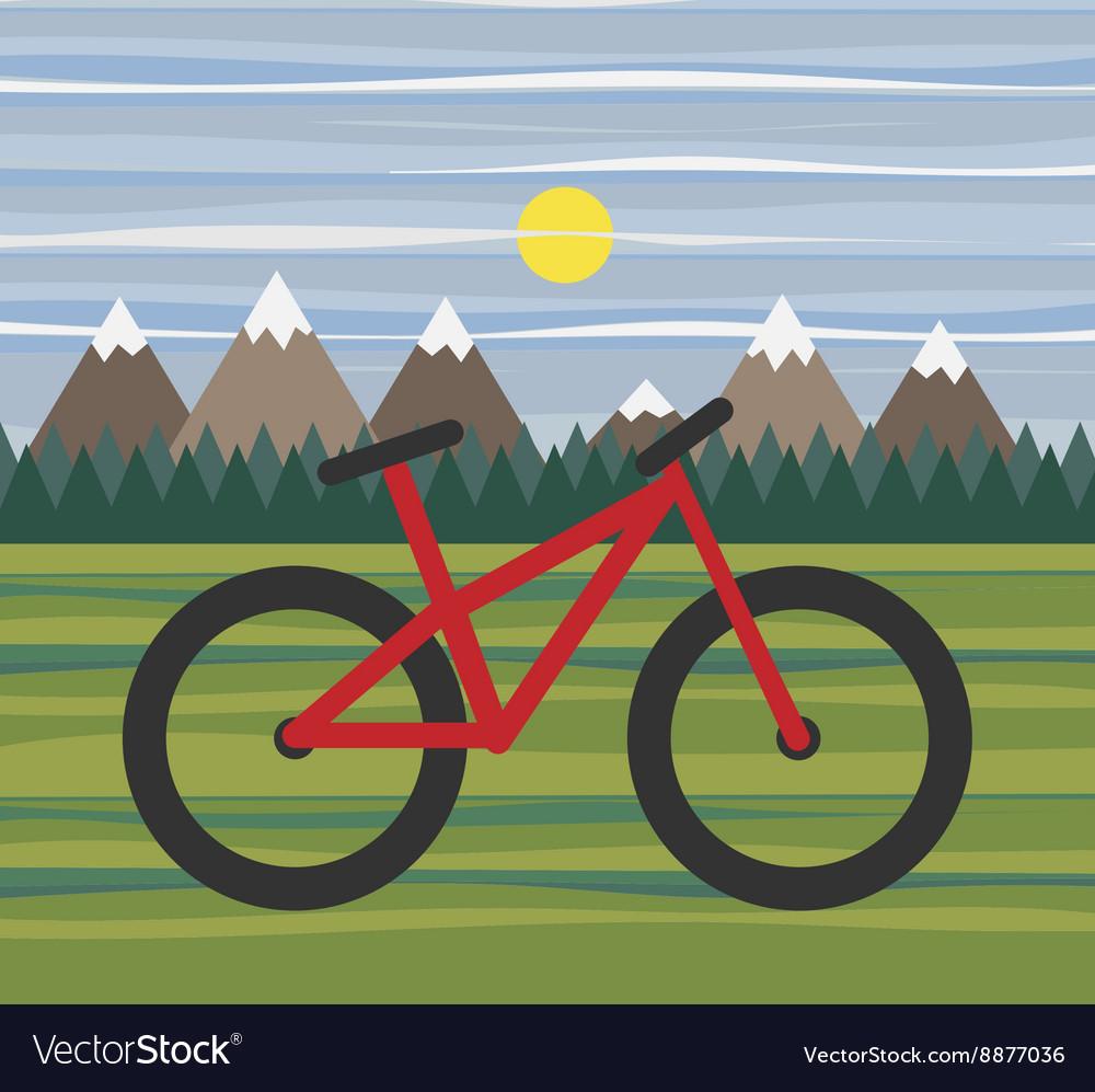 Mountain landscape for eco bike tourism