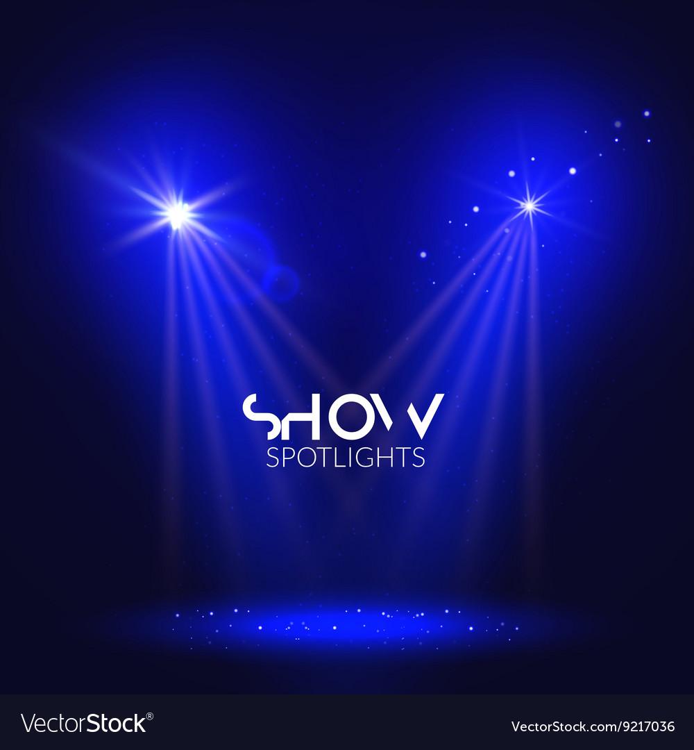 Spotlights empty scene Illuminated stage design