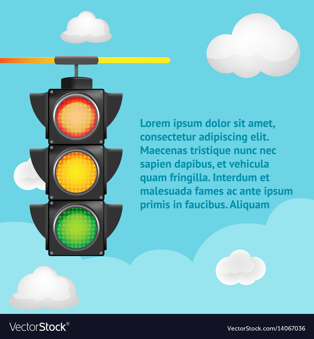 traffic light sky background template royalty free vector