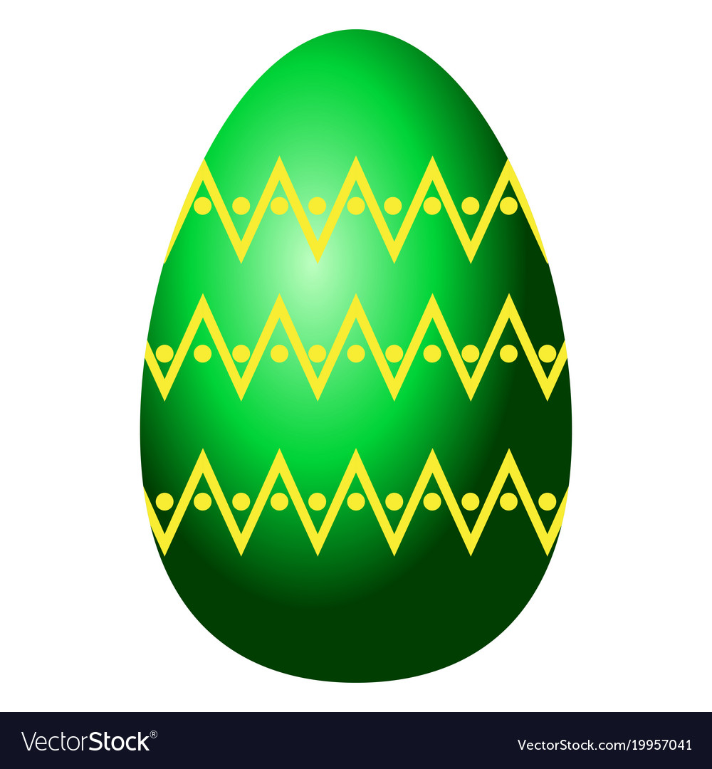 Isolated easter egg vector image