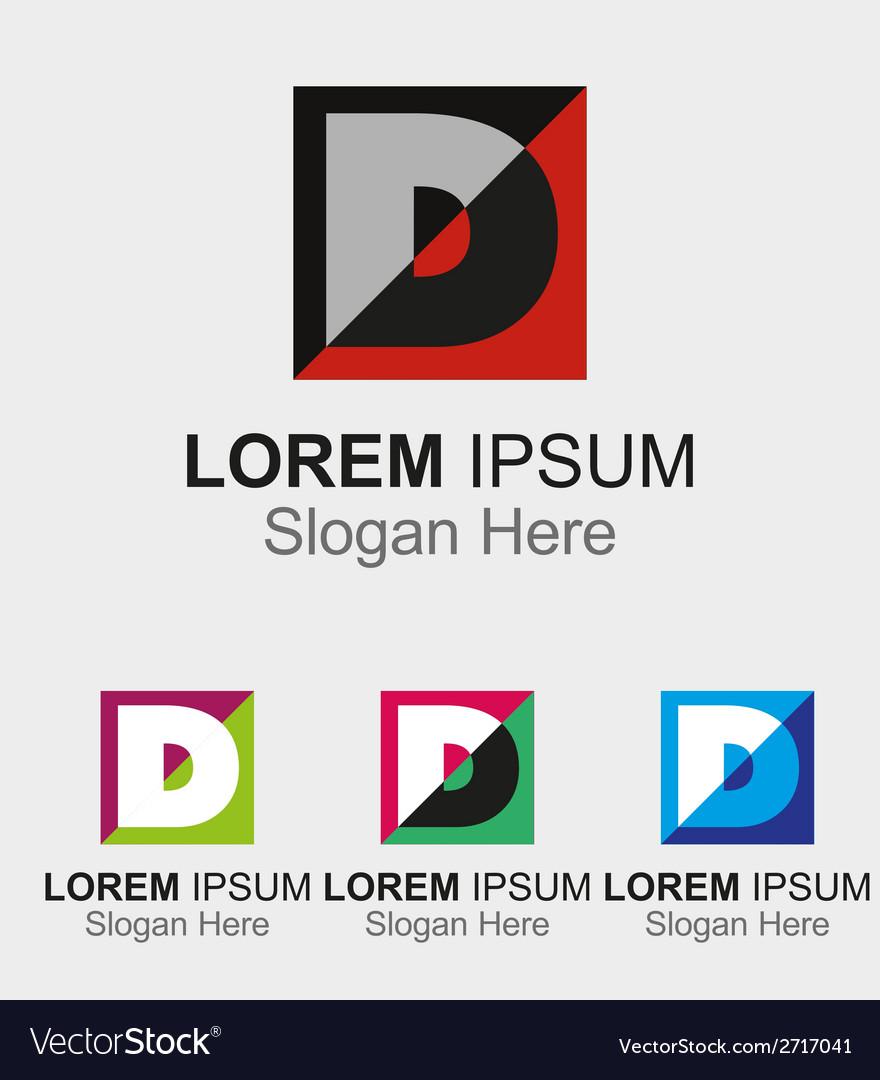 letter d logo design sample icon vector image