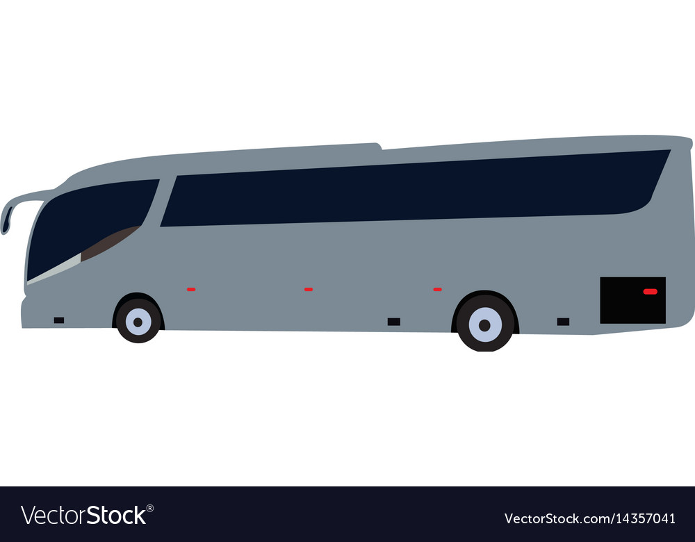 Side view bus vector image