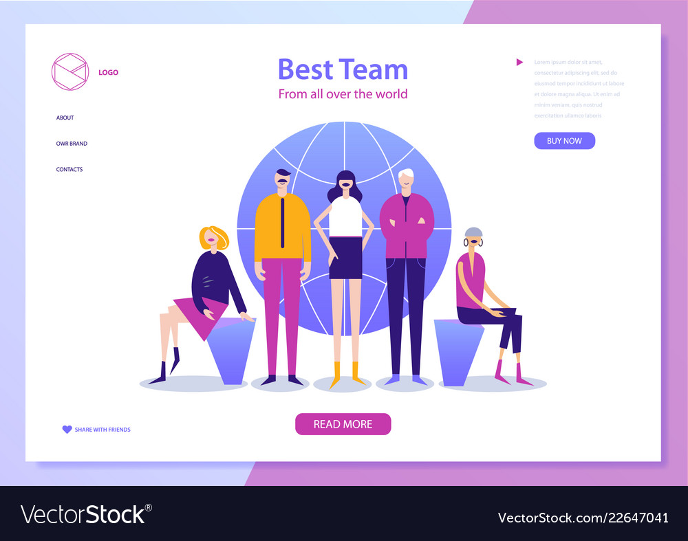 Web page design template for project