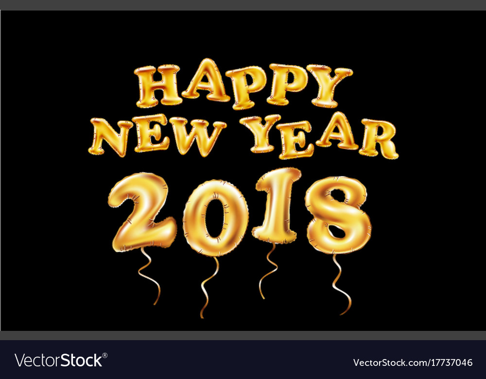2018 happy new year background dots gold glitter vector image