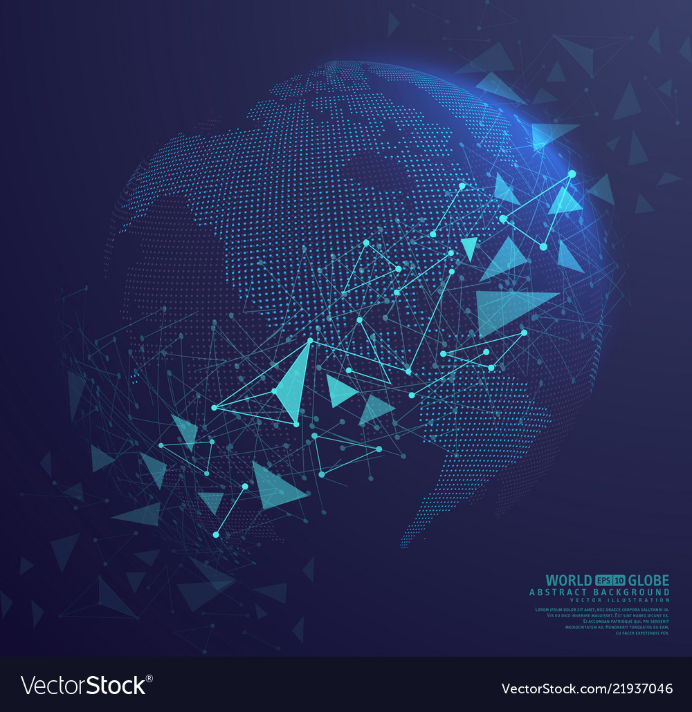 Abstract globe earth with connecting dots