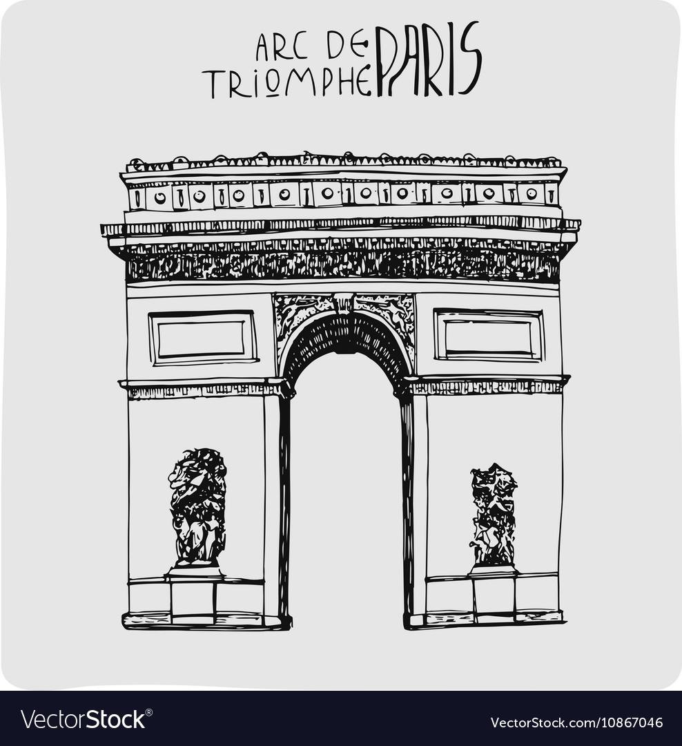 Arc de triomphe hand drawn acrh in Paris