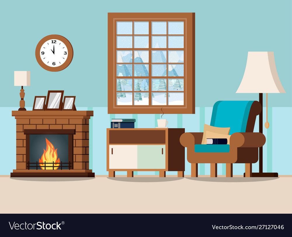 Cozy Home Living Room Interior Background With