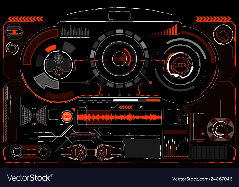 Sci-fi futuristic glowing hud display vitrual