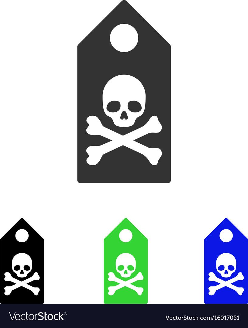Death mark flat icon vector image