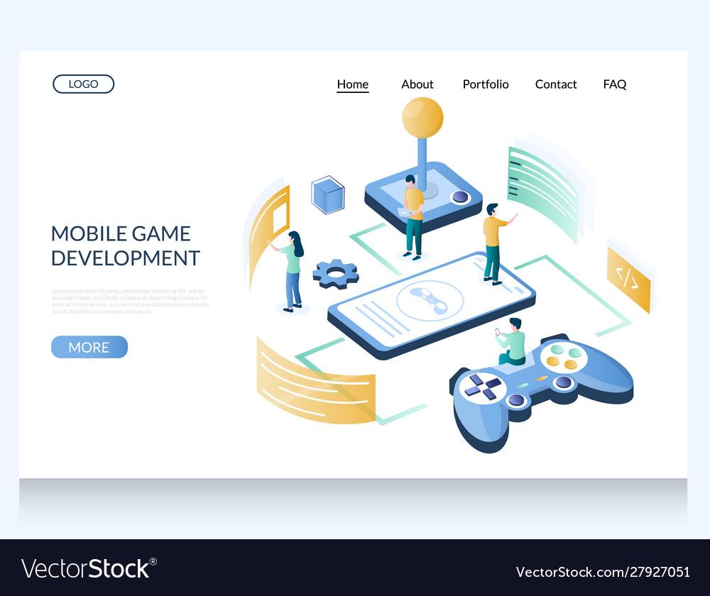 Mobile game development website landing