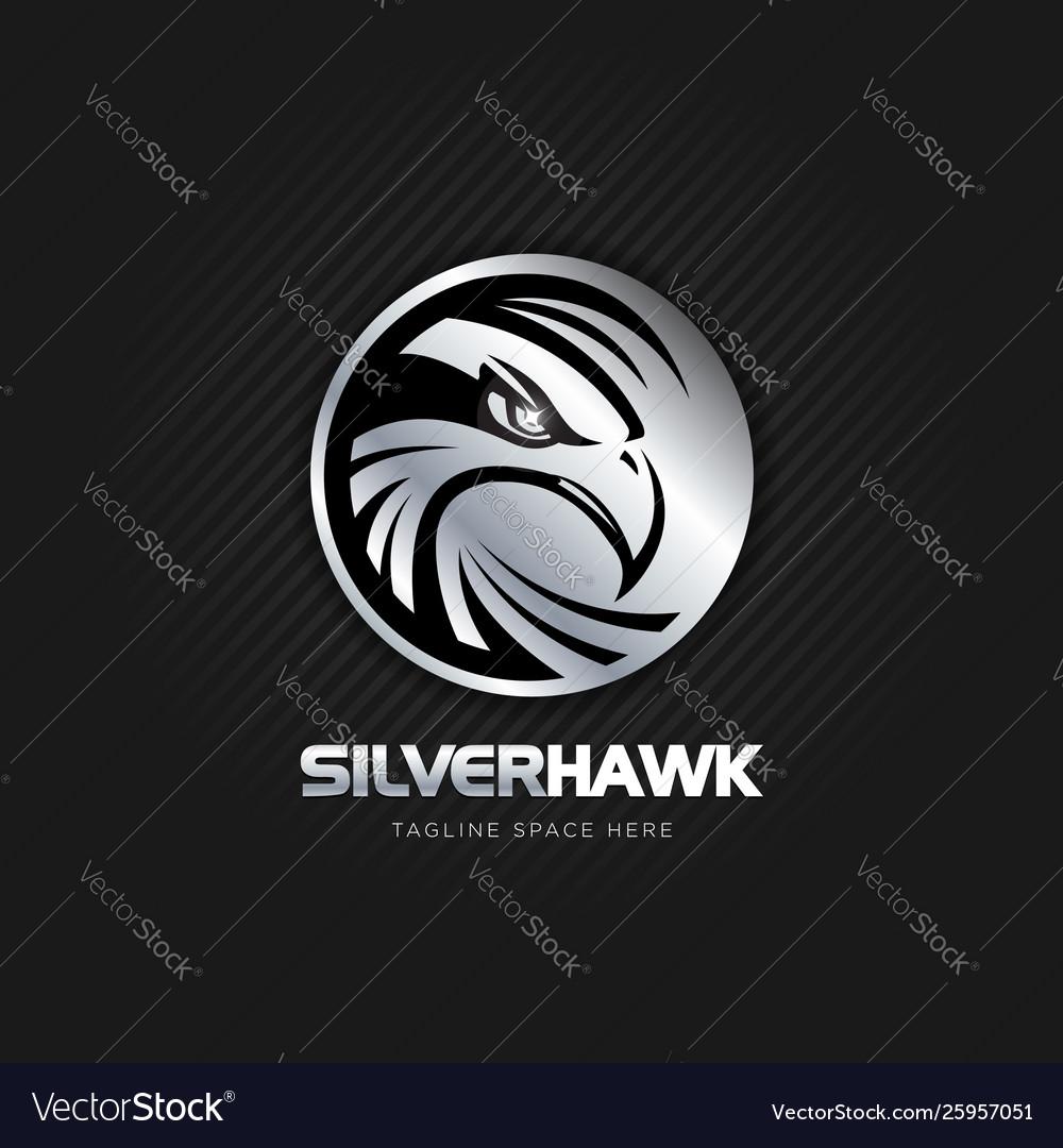 Silver hawk emblem logo sign symbol icon