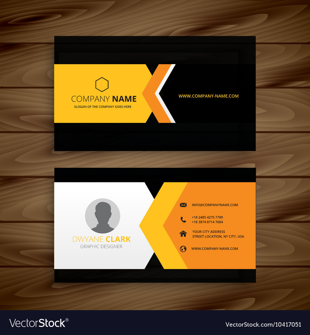 Yellow black business card royalty free vector image yellow black business card vector image reheart Choice Image