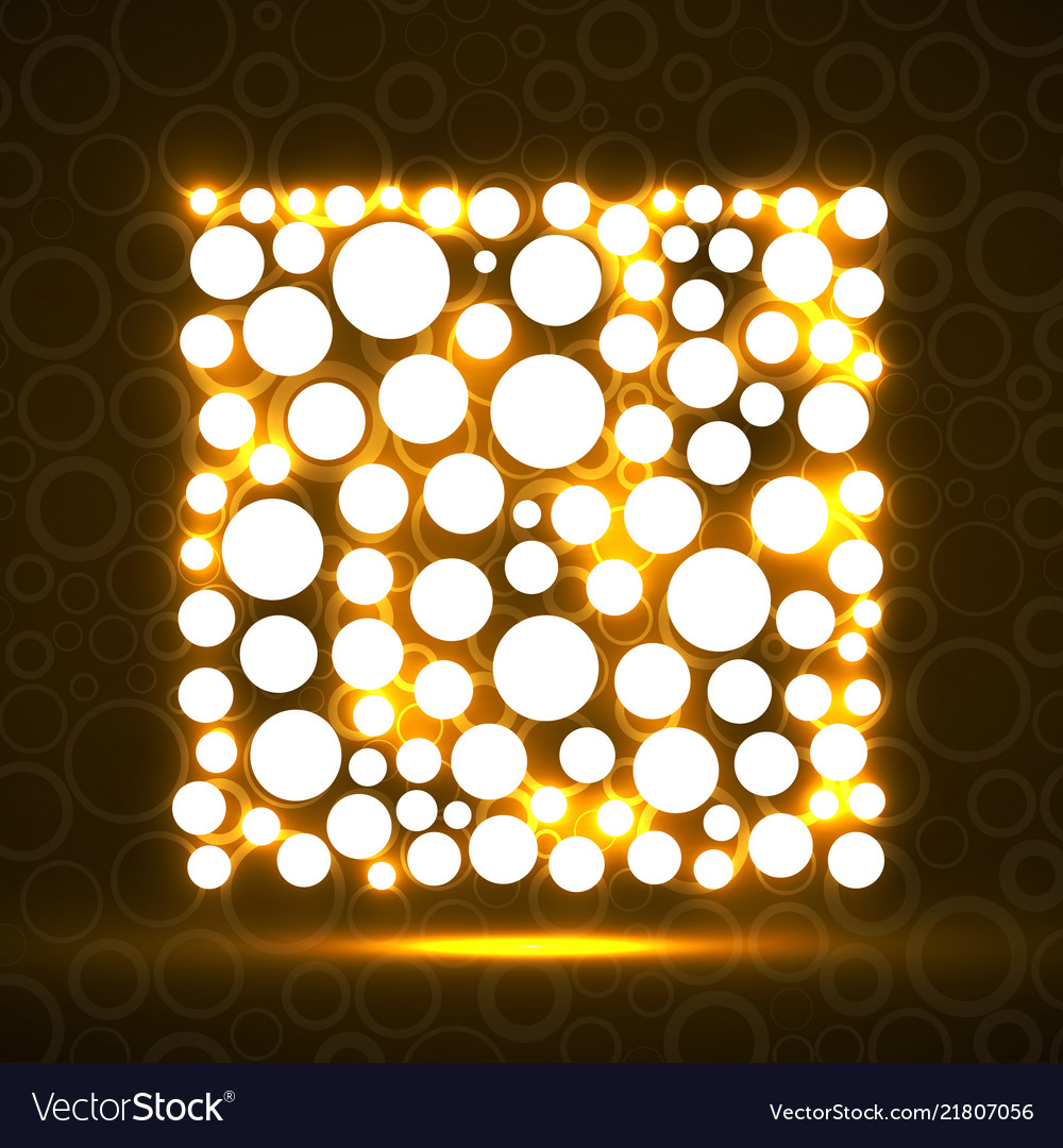 Abstract square of glowing circles