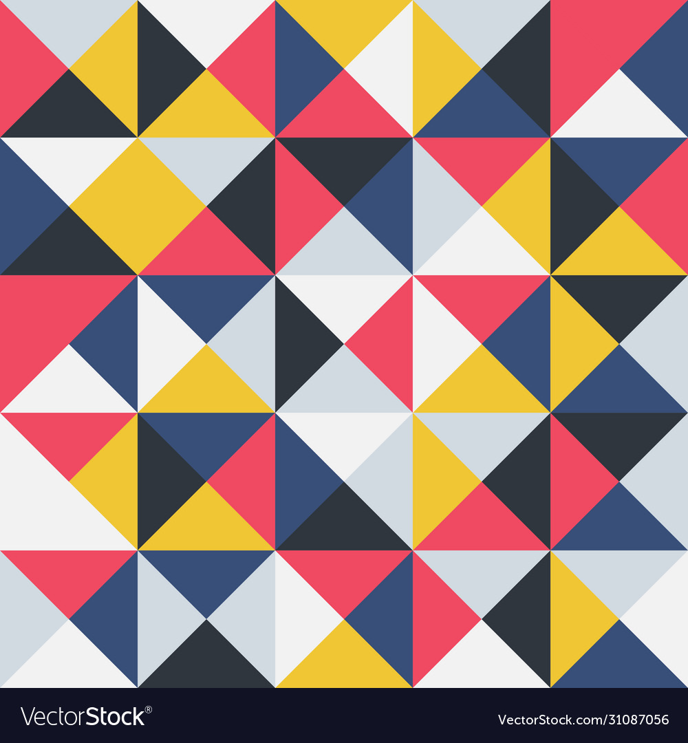 Colorful geometric seamless pattern retro trendy