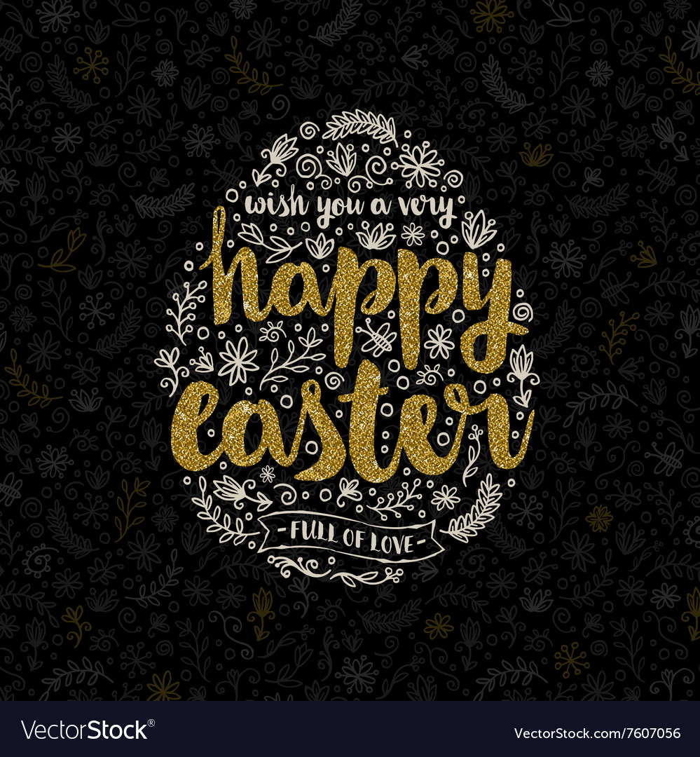 Easter greeting card with hand drawn element