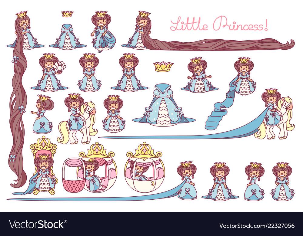 Flat little princess set