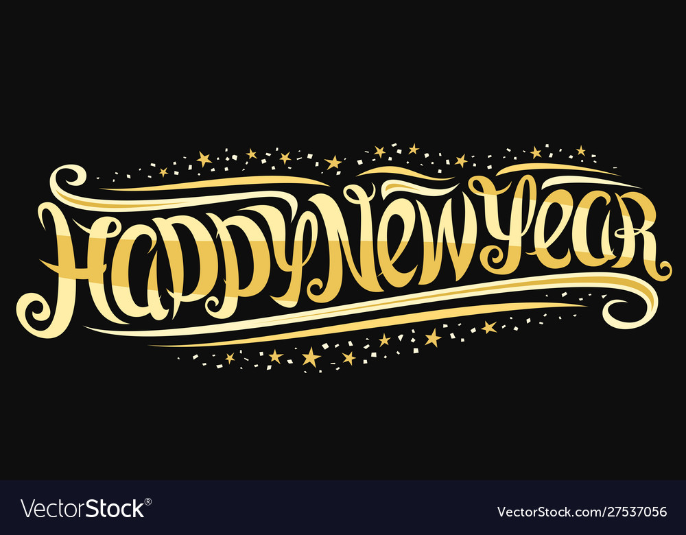 Greeting card for happy new year