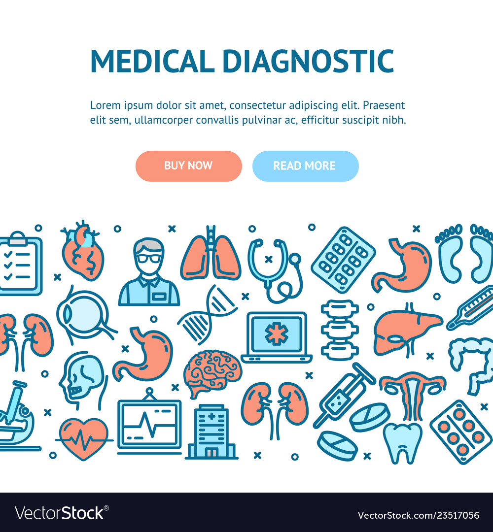 Medical diagnostics flyer banner posters card