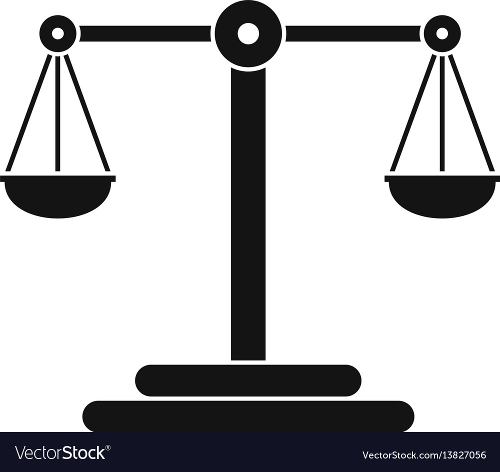Scales balance icon simple style vector image