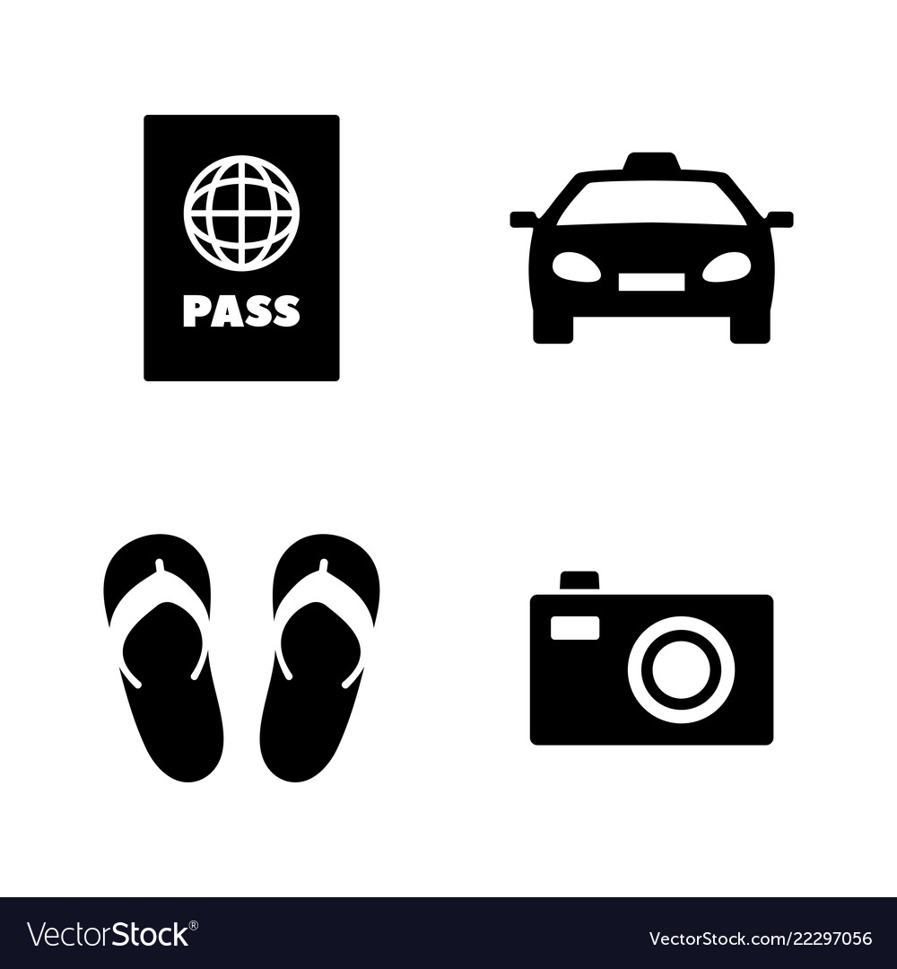 Tourism vacation simple related icons