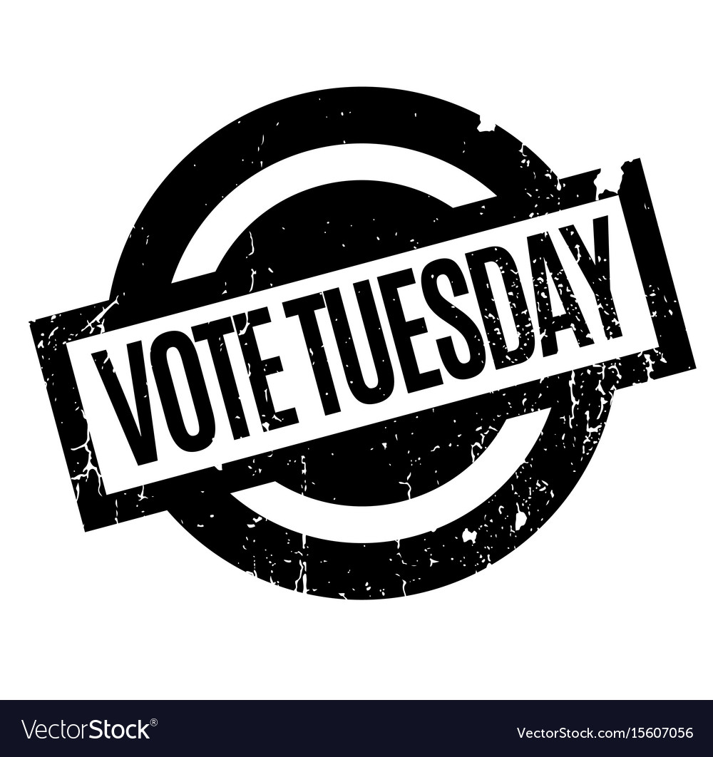 Vote Tuesday >> Vote Tuesday Rubber Stamp Royalty Free Vector Image