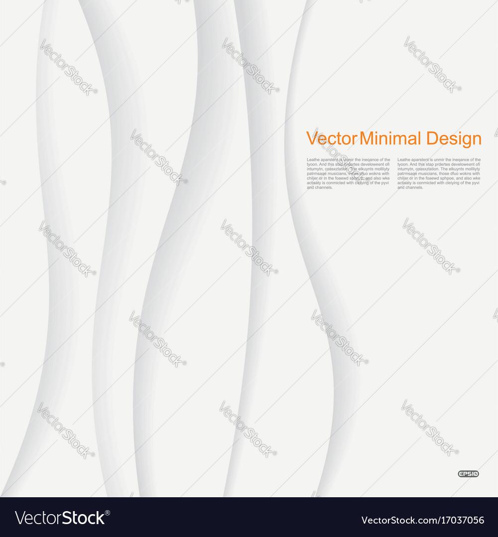White elegant paper waves background
