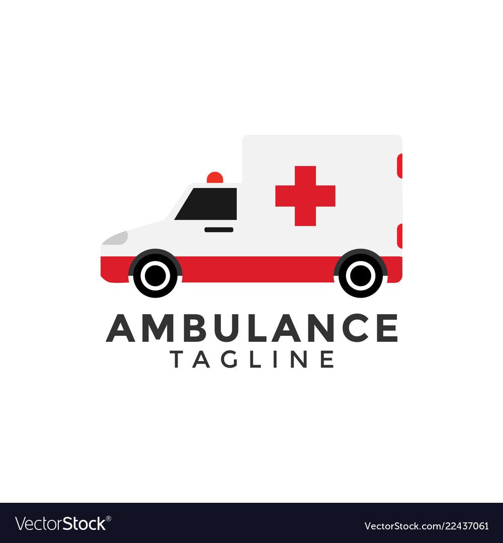 Ambulance car graphic design element