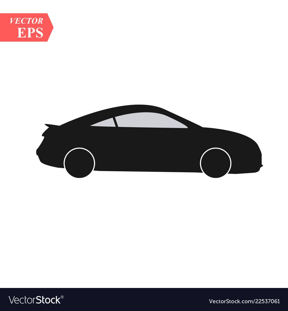 Car icon isolated simple front car logo sign