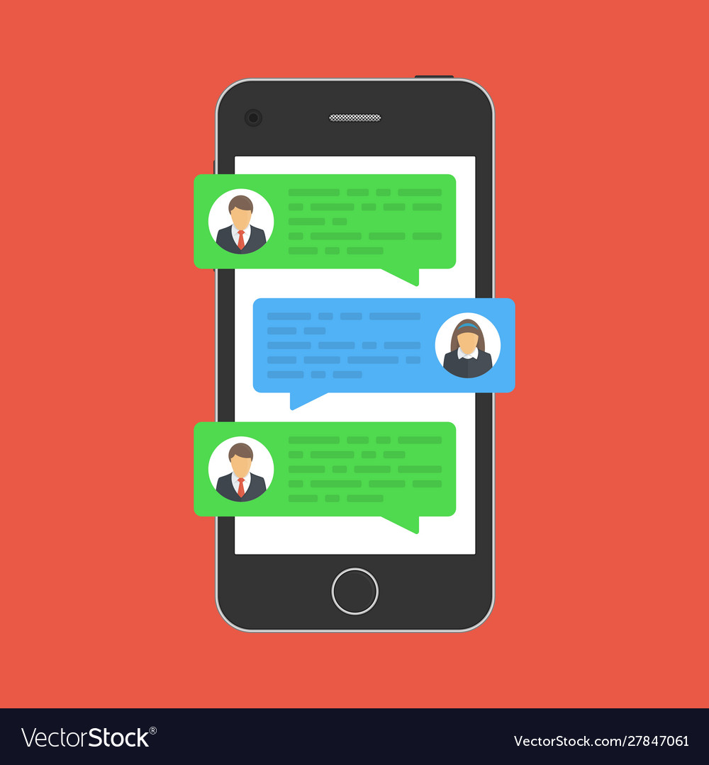 Chat message on smartphone