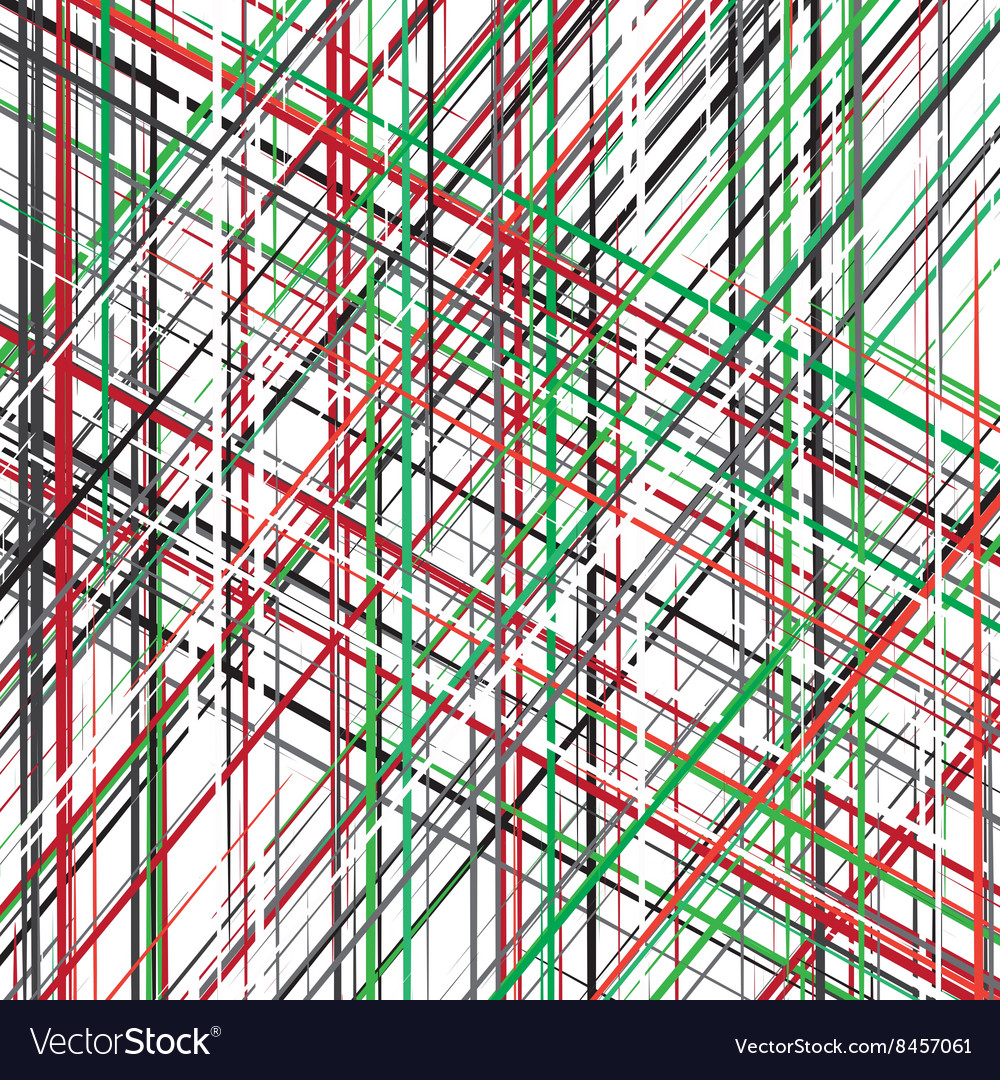 Diagonal red green black white overlapping