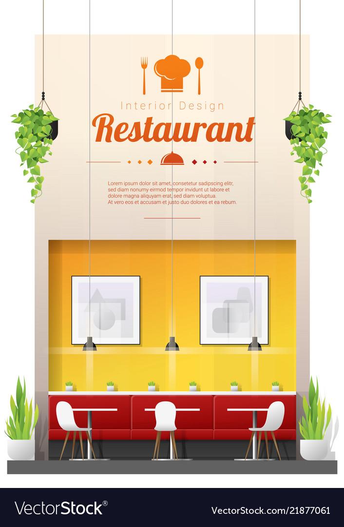 Interior background modern restaurant