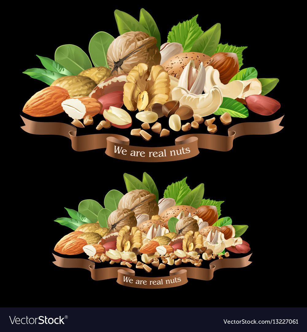 Mix of different types nuts