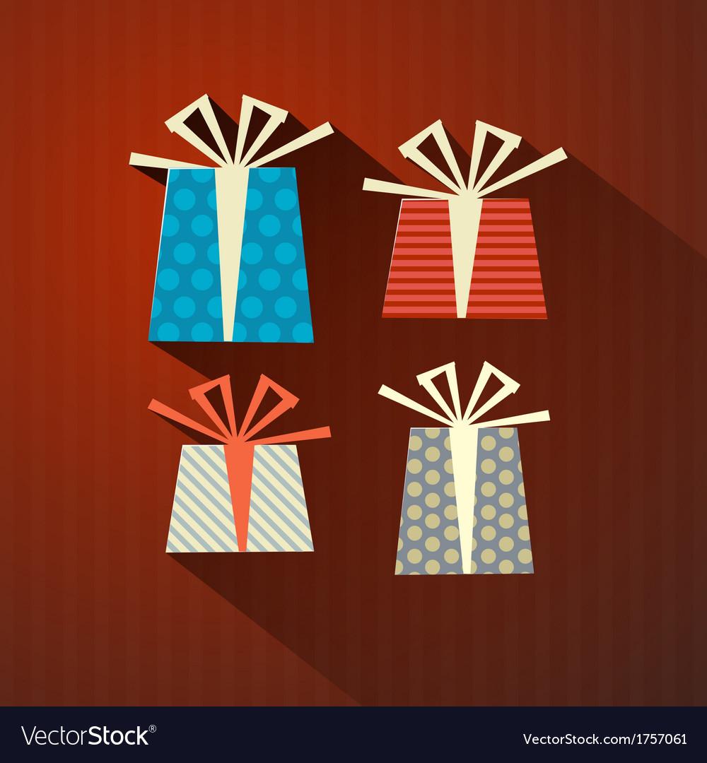Retro Paper Gift Present Boxes