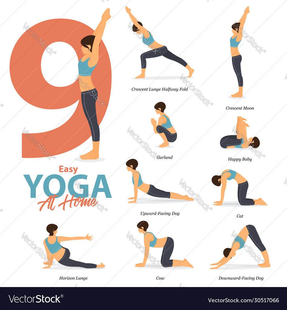 40 yoga poses for easy yoga at home