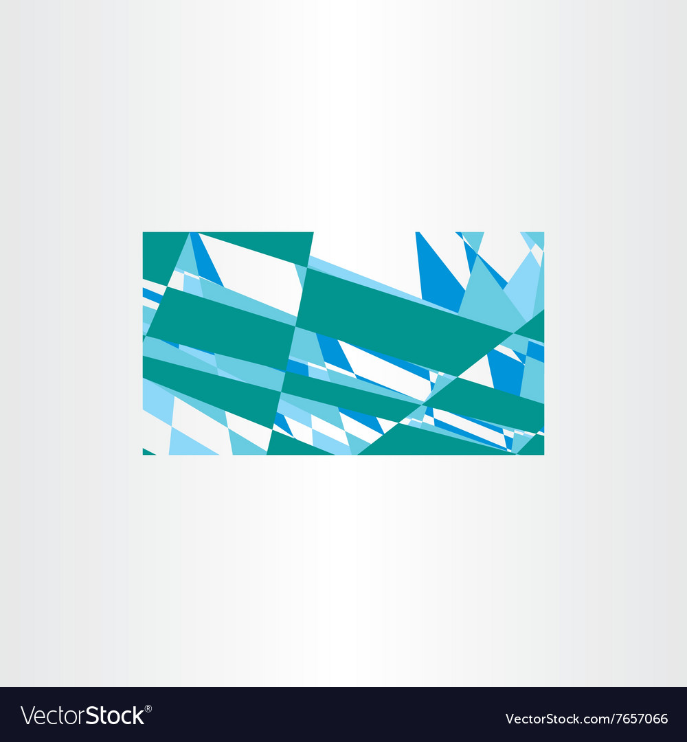 Abstract green blue business card background vector image colourmoves