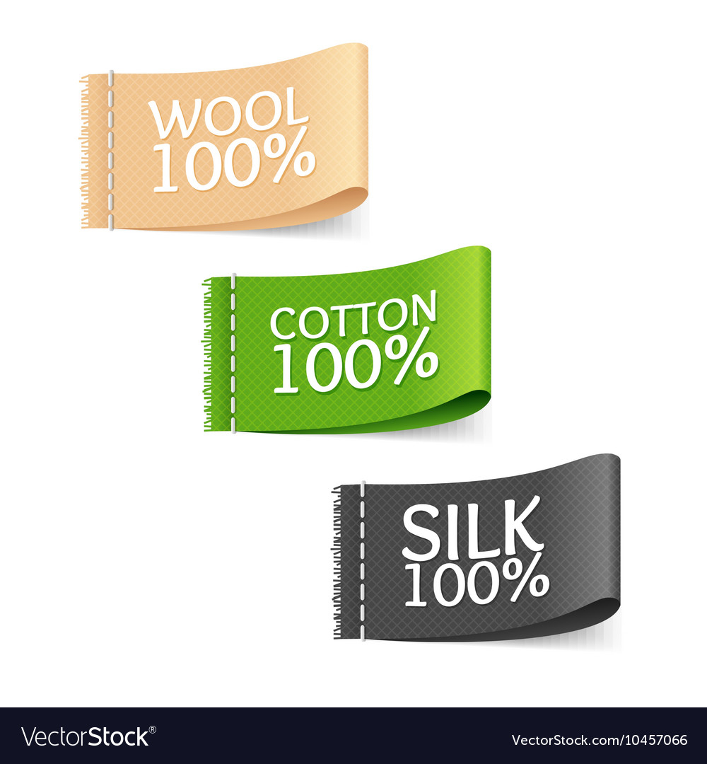 Clothes Fabric Sale Labels Set