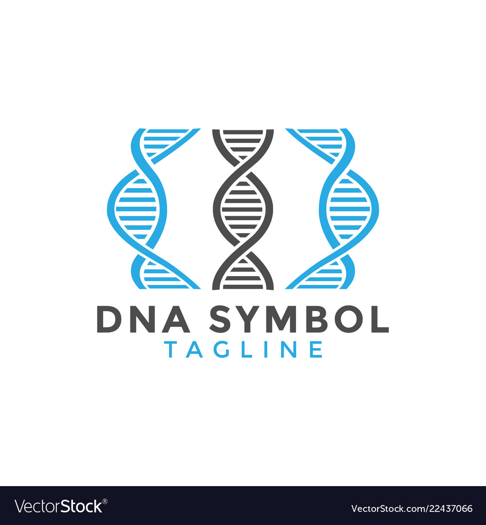 Dna symbol graphic design element