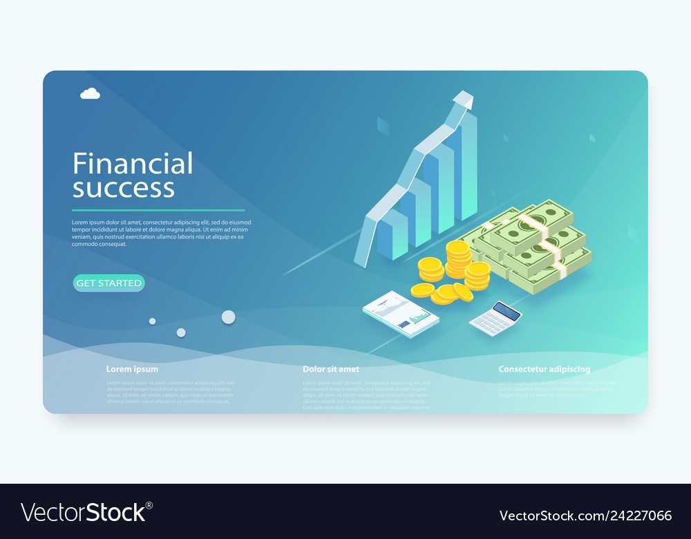 Financial research concept