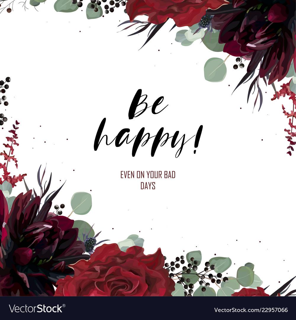 Greeting invite invitation card floral design