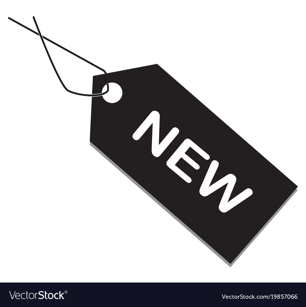 New tag on white background item sign flat Vector Image
