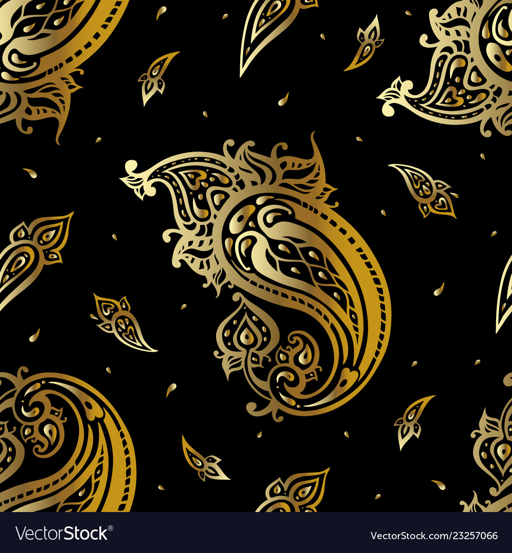 Paisley background vintage seamless pattern with